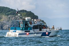 Kamchatka Krai, Russia, vela 2017-Yachts di Agu 19 a Okhotsksea immagine stock libera da diritti