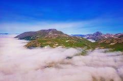 kamchatka miłość pardwy piosenka dziki drewna natury Zieleni volcanoes i pola Widok od helikopteru zdjęcie royalty free
