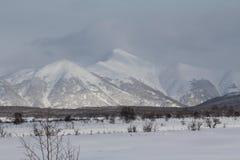 Kamchatka, mountains, tundra, Sobolewski area Royalty Free Stock Images