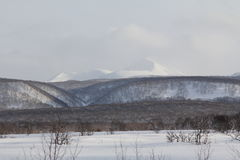 Kamchatka, mountains, tundra, Sobolewski area Royalty Free Stock Image
