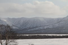 Kamchatka, mountains, tundra, Sobolewski area Royalty Free Stock Photo