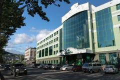 Kamchatka regionala huvudkontor Sberbank av Ryssland i Petropavlovsk arkivfoto