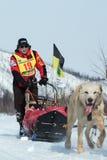 Kamchatka sania krańcowy Psi Ścigać się Beringia Rosyjski Daleki Wschód Fotografia Royalty Free
