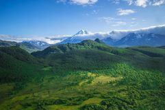 Kamchatka Territory, Russia. The edge of the earth. The land of wild and green nature and volcanoes Stock Images