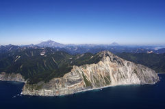 kamchatka vulkan Arkivbild