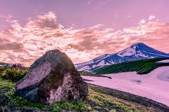 Kamchatka. 2014 vulkan sunshine mountain Stock Images
