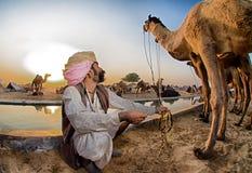 Kameel herder Stock Foto's