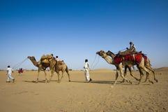 Kameel het berijden, de Woestijn van Thar Royalty-vrije Stock Afbeelding