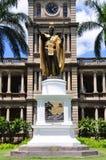 kamehameha国王雕象 免版税图库摄影