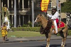 Kamehameha Celebration国王 免版税图库摄影