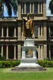 Kamehameha Statue I In硬朗的Aliiolani国王 库存照片