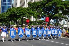 Kamehemeha band  in aloha festivals 2010 Stock Images