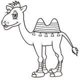 Kamel färgläggningbok stock illustrationer