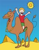 Kamel-Fahrt lizenzfreie abbildung