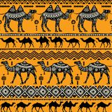 kamel mönsan seamless royaltyfri illustrationer