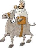Kamel-Mitfahrer lizenzfreie abbildung