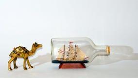 Kamel nach Segelschiffcollage lizenzfreie stockbilder