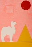 Kamel und Pyramide Stockbild