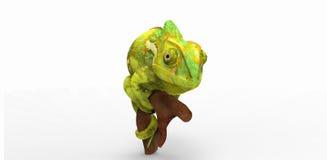 kameleon ilustracji