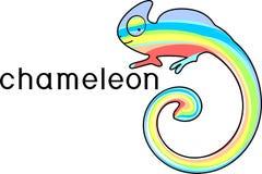 Kameleon malujący w kolorach tęcza Obraz Royalty Free