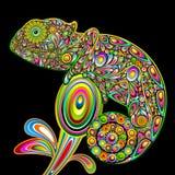 Kameleon Psychedelisch Art. Royalty-vrije Stock Fotografie
