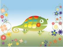 kameleont Vektor Illustrationer