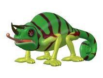Kameleont för tecknad filmtecken Arkivbilder