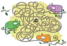 KameleontMazelek vektor illustrationer