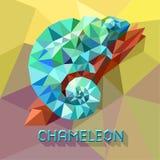 Kameleontsymbol Tecknad filmillustration av att gå kameleontvektorn för rengöringsduken royaltyfri illustrationer