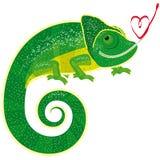 kameleonu bajki odosobniony valentine Ilustracja Wektor