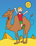 kamelritt royaltyfri illustrationer