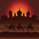 Kamels husvagn Royaltyfri Foto