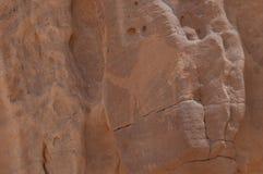 Kamelteckning på väggarna av Madain Saleh Archeological Site, S Royaltyfri Bild