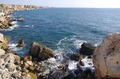 Kamen bryag – wild rocky coas, Bulgaria Stock Photo