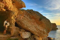 Kamen Bryag sunrise Bulgaria Stock Images