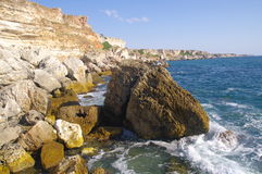 Kamen Bryag Wild Rocky Coast, Bulgaria Royalty Free Stock Photo