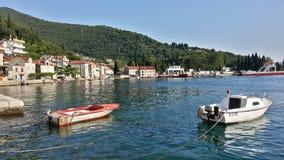 Kamenari Tivat, Montenegro Royaltyfri Fotografi