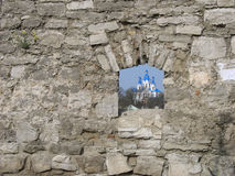 Kamenec-Podol'skiy, εκκλησία του George Pobedonosca Στοκ εικόνες με δικαίωμα ελεύθερης χρήσης