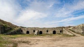 Kamenec-Podolskiy市,乌克兰新的城堡视图  免版税库存照片