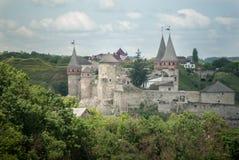 Kamenets波多尔斯基- 2017年6月06日 堡垒在Kamenets波多尔斯基,乌克兰 库存图片