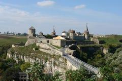 Kamenets-Podolsky slott Royaltyfria Bilder
