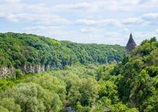 Kamenetz波多利斯克 乌克兰 8月05日 2017年 老城堡的好的看法 免版税图库摄影
