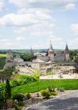 Kamenetz波多利斯克 乌克兰 8月05日 2017年 老城堡的好的看法 免版税库存照片