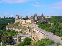 Kamenetz波多尔斯基城堡堡垒 免版税库存图片