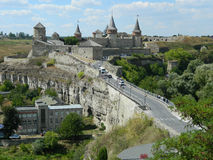Kamenetz波多尔斯基城堡 免版税库存照片