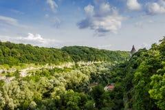 Kamenetz-Podolsk city, canyon Royalty Free Stock Photo