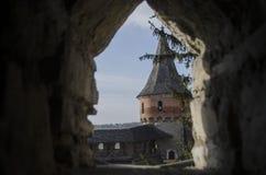 Kamenetz-Podolsk fortress, Ukraine. !blue sky Stock Photos
