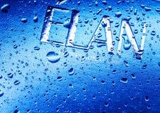 Kamenetz-Podolsky, УКРАИНА, 11-ое августа 2017: вода на логотипе ELAN Стоковое фото RF