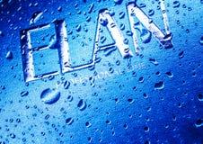 Kamenetz-Podolsky, УКРАИНА, 11-ое августа 2017: вода на логотипе ELAN Стоковое Изображение