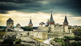 Kamenetz-Podolsky castle time lapse stock footage